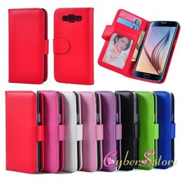 Wholesale A5 Photo Frames - For Galaxy A3 A5 A7 PU Leather Wallet Cases Cover with Credit Card Holder Photo Frame Flip Stand Phone for Samsung A3000 A5000