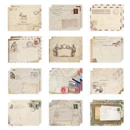 Wholesale Mini Wedding Invitations - Wholesale- 12 pcs set Vintage Small Mini Kraft Paper Window Envelopes wedding invitation envelope gift envelope Ancien