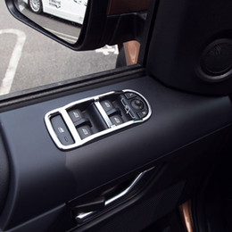 Wholesale Power Switch Cover - ABS Chrome Windows Power window switch Cover Car Accessories For Land rover freelander 2