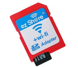 Wholesale Card Sd Wifi - Best Selling ezshare EZ share micro sd card adapter wifi wireless TF MicroSD adapter WiFi SD card
