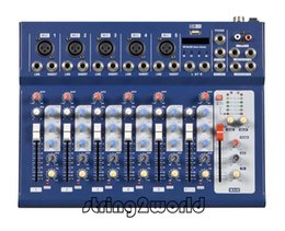 Wholesale Dj Audio Mixers - F7 New 7 Channel Professional Live Studio Audio Mixer DJ Console