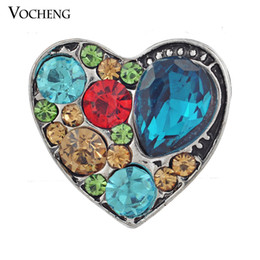 Wholesale Jewelry Cabochon Settings - Vocheng NOOSA DIY Jewelry Accessory Adornment Set Noosa Nosa Amsterdam Chunks Clasps Snaps Jewelry Cabochon Setting (Vn-051) Free Shipping