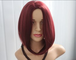 Wholesale Girls Shorts Only - Sell like hot cakes Girls Fashion Cosplay Party Short Hair Wig Heat Resistant Hot Red Full Head Wigs Super Style New Fancy Dress