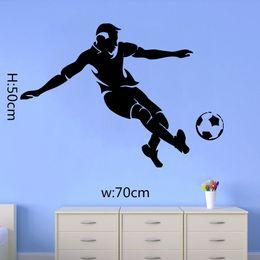Wholesale Modern Boys - Football Soccer Man Vinyl Wall Sticker Boys Bedroom Room Wall Art Decal