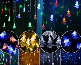 Wholesale Pink Party Decor - NEW outdoor decorative lamp string AC 220V Window xmas The eaves Railing Christmas Tree Pendant decor LED lamp string belt Tail plug MYY