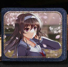 Wholesale Vintage Lead Holder - Leading lady train wallet Aki Tomoya cartoon purse Anime short cash note case Money notecase Leather burse bag Card holders