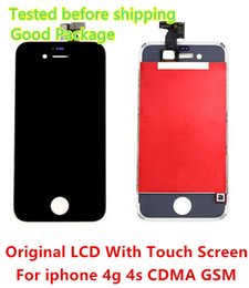 Wholesale Iphone 4s Digitizer Frame - Promotion!! DHL Free Shipping Touch Screen + Originnal LCD Display Digitizer + Frame + Tool Full Set Assembly For iPhone 4 4G 4S