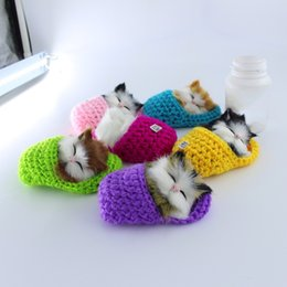 Wholesale Sound Shoes - Simulation Sounding Shoe Kittens Doll Cats Plush Cute Toys Kids Appease Christmas Birthday Super Cute Gifts
