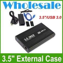 "Wholesale Enclosure Plastic - USB 3.0 External Hard Drive Enclosure for 3.5"" Hard Drives Wholesale Fast Shipping"