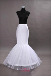 Wholesale Cheap Crinoline For Prom Dress - in Stock Cheap One Hoop Flounced Mermaid Petticoats Bridal Crinoline For Mermaid Wedding Prom Dresses Weddding Accessories CPA201