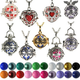 Wholesale Red Ball Chain - 2015 Chimes Pregnancy Ball necklace Mexico Bola ball chain box Bell Necklace pendant Fetal education angel caller necklace 8 style
