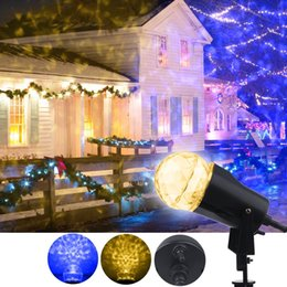 Wholesale Spotlight Stage Lighting Wholesale - New Fire&Ice Lightshow Garden lamp Multi-Function LED Kaleidoscope Spotlight Projector LED Stage light Home Patio Yard Christmas Halloween