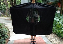 Wholesale Hair Cut Gown - New Visible Hair Cutting Gown Cape With Viewing Window Hairdresser Barber Stylist Hair Cut free shipping