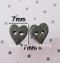 Wholesale Coconut Heart Buttons - WB0133 Mini buttons coconut 7mm Heart wood brand button 100pcs lot sewing supplies