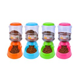 Wholesale Cat Feeding - Pet Automatic Feeder Eco-Friendly Food Grade Plastic Pet Food Water Bowl Dog Feeder Feeding Bowl For Dogs And Cats Pets Supplies Feeders