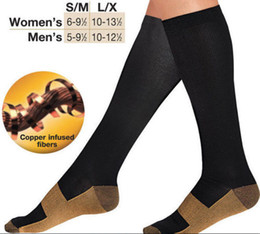 Wholesale Resell Hot - Hot selling unisex Copper Infused Anti-Fatigue Compression Socks High Relief Varicose Vein Stocking For Sport with resell box
