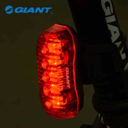 Wholesale Giant Bicycle Lights - 2013 New GIANT Bike Bicycle Light Rear Light Led Lamp 5 Led Taillight Lamp Flashlight + 2 AAA Batteries - Numen TL1