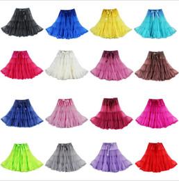 Wholesale Ladies Pettiskirt Skirts - 2017 European Fashion Women Mini Skirt Ladies Solid Chiffon Sexy Tulle Ball Gown Skirts Adult Tutu Pettiskirt for Womens