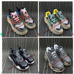 Wholesale Spiked Vintage - 2017 Retro Speed training Tripe-S 17FW Dad Shoe Fashion vintage Women Men Running Shoes Sport size 36-46