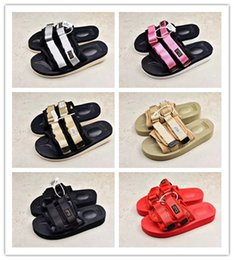 Wholesale beach sandals men sale - 2017 Hot Sale CLOT x Suicoke Sandals Fashion Man Women Lovers Visvim Summer Casual Shoes Slippers Beach Outdoor Slippers Size 36-45