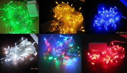 Cadenas de colores online-Led luz de la secuencia 10M 100led AC110V o AC220V vacaciones coloridas iluminación led impermeable al aire libre decoración luz christm lightas