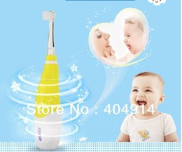 Wholesale Battery Powered Toothbrushes - Children Soft Brush Electric Snoic Toothbrush for 2 to 5 Years Kids with LED lamp battery power IPX7 Waterproof