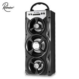беспроводной громкоговоритель bluetooth Скидка Redmaine Портативный Bluetooth динамик FM-радио AUX Многофункциональный с 4-дюймовый большой Ppeaker и гладкий красочной подсветкой