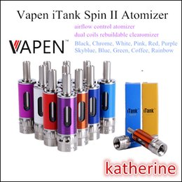 Wholesale Vapen Spin Battery - Vapen iTank Spin II Atomizer Dual Coils Rebuildable Clearomizer Airflow Control System 11 Colors Fit Vapen Spin III 30w Mod Battery
