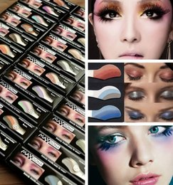 Wholesale Glitters Eyes Stickers - (42 colors 1box=6 pairs=12 pcs)Fashion Instant Eyeshadow Magic Eye Sticker Party Eye Liner Makeup Tools Fashion Magic Eyesshadow