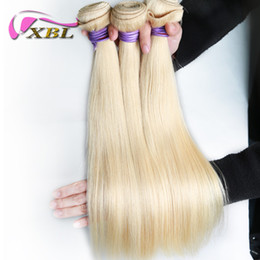 Wholesale Hair Color 613 - xblhair blond straight human hair weft remy 613 straight human hair bundles mink brazilian human hair