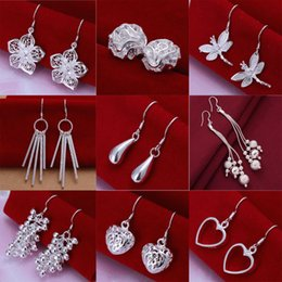 Wholesale China Chandelier Price - Fashion Factory Price mixed 30pairs  lot earrings 925 sterling silver earrings jewelry Fashion Shine Earrings wholesale earrings Christmas