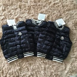 Wholesale Children S Fur Coats - Boys big Fur Collar quilted waterproof kids winter warm snow light Goose Down Jackets For Cold Children Parkas Outerwear & Coats