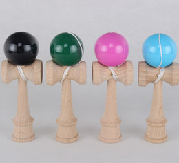 Wholesale Traditional Japanese Children Toys - Colorful 17CM Kendama Balls Japanese Traditional Wood Game Toy Education Gifts Activity Gifts toys for Children DHL free ship
