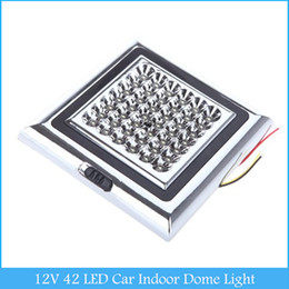 Wholesale Decorative Roof - 12V 42 LED Car Vehicle Indoor Roof Ceiling Lamp Interior Decorative Dome Light Square White C367