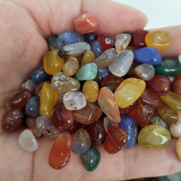 Wholesale Minerals Gemstones - 200g Natural Genuine Tumbled Gemstone Multi Color Fancy Jasper India Agate Rondelle Colorful Rock Mineral Agate for chakra healing reiki