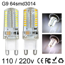 Wholesale G4 G9 - G9 G4 E14 3W 64 SMD led bulb light 3014 Warm White   Cool White LED Corn Lights AC 220V 110V