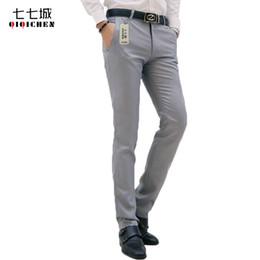Wholesale Slim Fit Business Pants - Wholesale- 2017 New Autumn Men's Suit Pants Comfort Formal Pants Slim Fit Business Casual Social Dress Trousers Men Classic pantalon homme