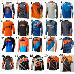 Wholesale Riding Sport Shirt - Hot sall 2018 Arrival for KTM Motorcycle Riding Team Riding Jersey Motocross MOTO GP Sports Jersey Bicycle Cycling downhill Jerseys