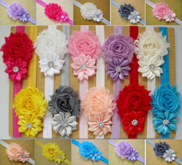 Wholesale Hairband Hair Clip - 15%off baby headbands Baby Headwear Children Flower Pearl Infant Toddler Girl Headband Clips Hairband Hair Band Accessories 10pcs