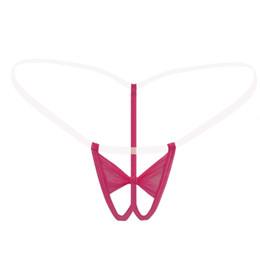 Wholesale underwear women sheer white - Women Sexy Thongs Transparent Sheer G Strings Open Crotch Seamless Mini Micro Bikini Tangas T Back Panties Underwear Lingerie