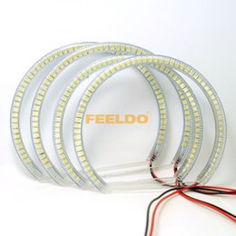 Wholesale Halo Ring E46 - New White Yellow Blue 60SMD-3528 LED ANGEL EYES HALO RINGS For E46 Coupe 2D(04+) E46 Cabrio SKU#:4756