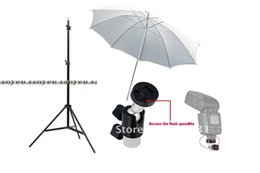 Wholesale Soft Umbrellas - Wholesales- studio set,6ft 190cm Photo Video Light Stands+Studio White Soft Umbrella +Umbrella Holder Swivel Light Stand