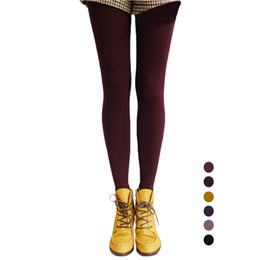Wholesale Skinny Black Pantyhose - S5Q Womens Autumn And Winter Skinny Slim Stretch Casual Warm Leggings Pantyhose AAAFSW