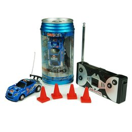 Wholesale race car boxes - Sale Christmas Creative Coke Can Remote Control Mini Speed RC Micro Racing Car Vehicles Gift for Kids Xmas Gift Buy Send Exquisite Gift Box