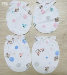 Wholesale Cheap Baby Boy Stuff - newborn baby anti scratch mittens gloves boys girls cheap infant products supplies stuff accessories 5 pairs lot
