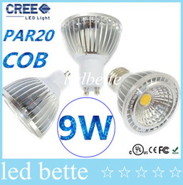 Wholesale 9w Blue Led Spotlight Bulbs - Dimmable PAR20 E27 E26 GU10 Led Spotlights 1X9W COB GU10 GU5.3 MR16 Led Bulbs Light Warm Cool White AC 110-240V CE FCC