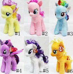 Wholesale Dolls Little Pony - My Little Pony Plush Toys For 6 Design Baby Girl Boys Cartoon Super Quality Plush Dolls Stuffed Toys Plush Animals As Christmas Gifts SZ-T01