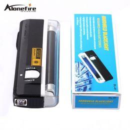 Wholesale Handheld Money Detector - Handheld money detector back light UV lamp forge money test currency bank note detector flashlight