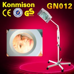 Wholesale Salon Magnifying Lamps - Beauty Salon Stand Magnifier With LED Light Magnifying Lamp Skin Examination Lamp 84*24*16cm Vertical Type Beauty Spa Tool DHL Free Shipping