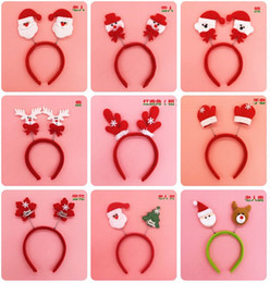 Wholesale Wholesale Childrens Products - Christmas decorations Head band for childrens Christmas party decoration Cute cartoon hair band Children gift Christmas products wholesale